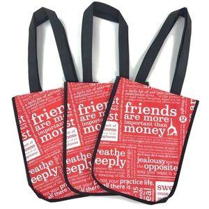 3 lulu lemon reusable bags